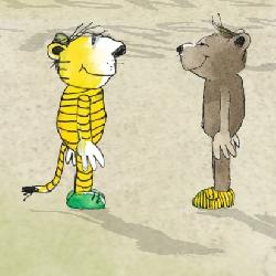 Janoschs Tiger & Bär haben dem Deutschen Kinderhilfswerk ein Interview zum Wert des freien Spiels gegeben.
