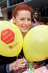 Unsere Stimme für Kinder in Deutschland: Enie van de Meiklkjes, TV-Moderatorin und Buchautorin und Botschafterin des Deutschen Kinderhilfswerkes