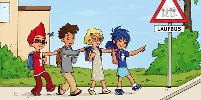 """Bei den jährlichen Aktionstagen """"Zu Fuß zur Schule und zum Kindergarten"""" sind Kinder und Jugendliche aufgerufen, zu Fuß zur Schule oder zur Kita zu laufen."""
