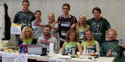Tolle Spendenaktion für Flüchtlingskinder: Studierende der Uni Göttingen haben frisch gebackene Waffeln verkauft und die Einnahmen dem Deutschen Kinderhilfswerk gespendet.