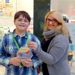 Colin sammelte mit KINDERCENT, einer Spendenaktion des Deutschen Kinderhilfswerkes, 5.000 Euro.